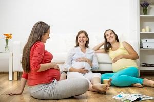 Entspannungsübung für Schwangere