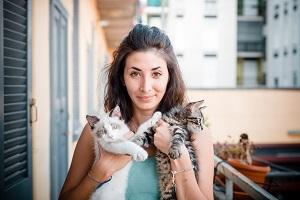 Betreuerin für Katze