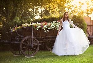 Die Braut beim Foto Shooting