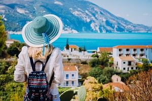 Frau in Griechenland