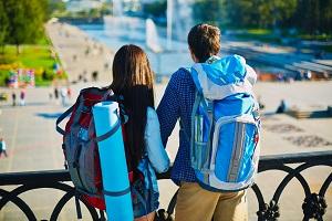 Mit dem Rucksack unterwegs